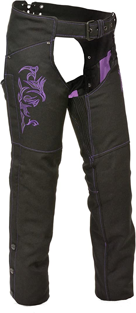 Black, X-Small Milwaukee Womens Leather Chaps
