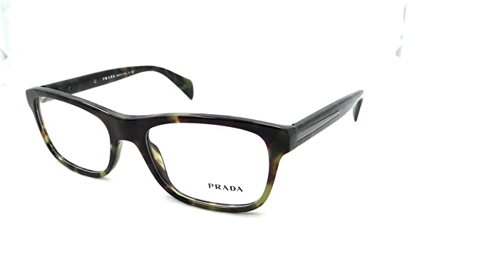 dd60ef4bc4e5 Image Unavailable. Image not available for. Color  Prada Rx Eyeglasses  Frames Vpr 19p Lab-1o1 53x18 Tortoise Green Made In Italy