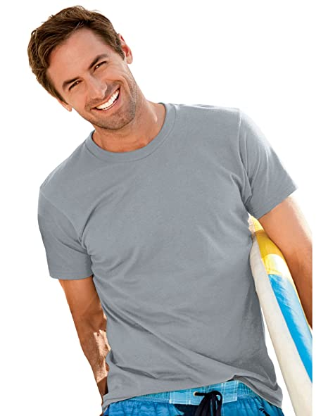 ce96f8f9 Hanes Heavyweight 50/50 - 50/50 Cotton/Poly T-Shirt, X-LARGE, Lt ...