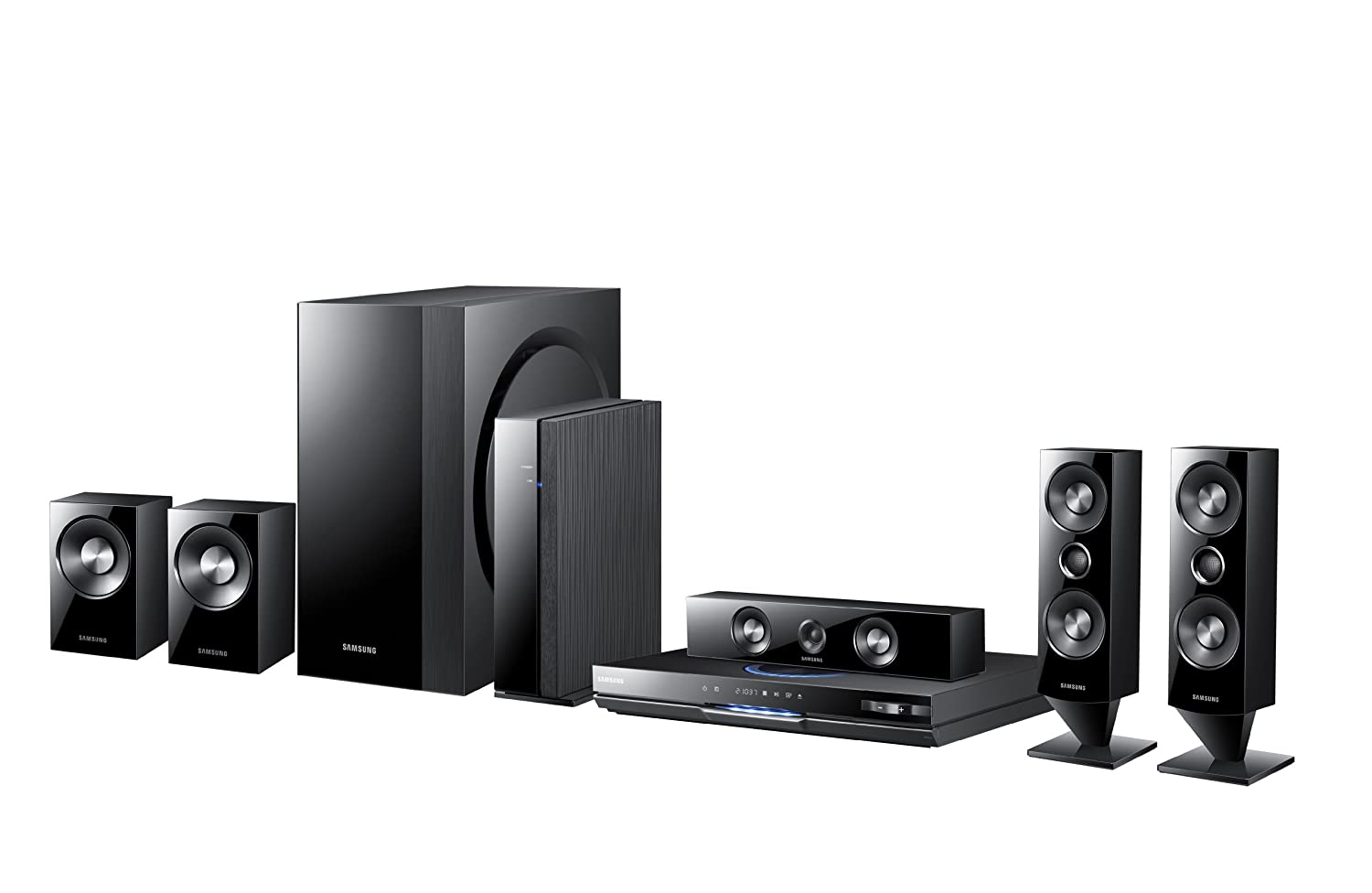 Amazoncom Samsung HTD6500W 51 CH 3D BluRay Home Theater System