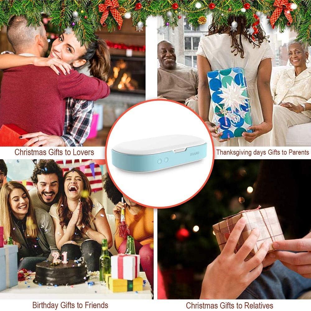 ahanzhu t/él/éphone portable d/ésinfectant bo/îte chargeur sans fil smartphone d/ésinfection portable st/érilisateur lumi/ère uv pour /écouteurs bluetooth montres bijoux