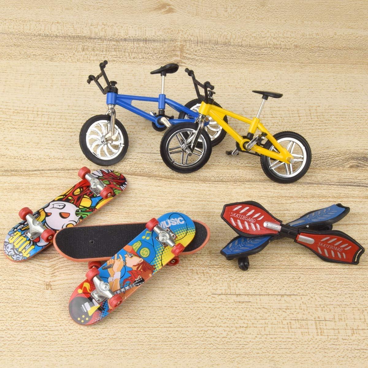 Loscrew Mini Finger Sports Set Skateboards Fahrr/äder Schaukelbretter Ersatzr/äder Set und Werkzeuge f/ür Partybevorzugungen P/ädagogisches Fingerspielzeug 27 St/ück