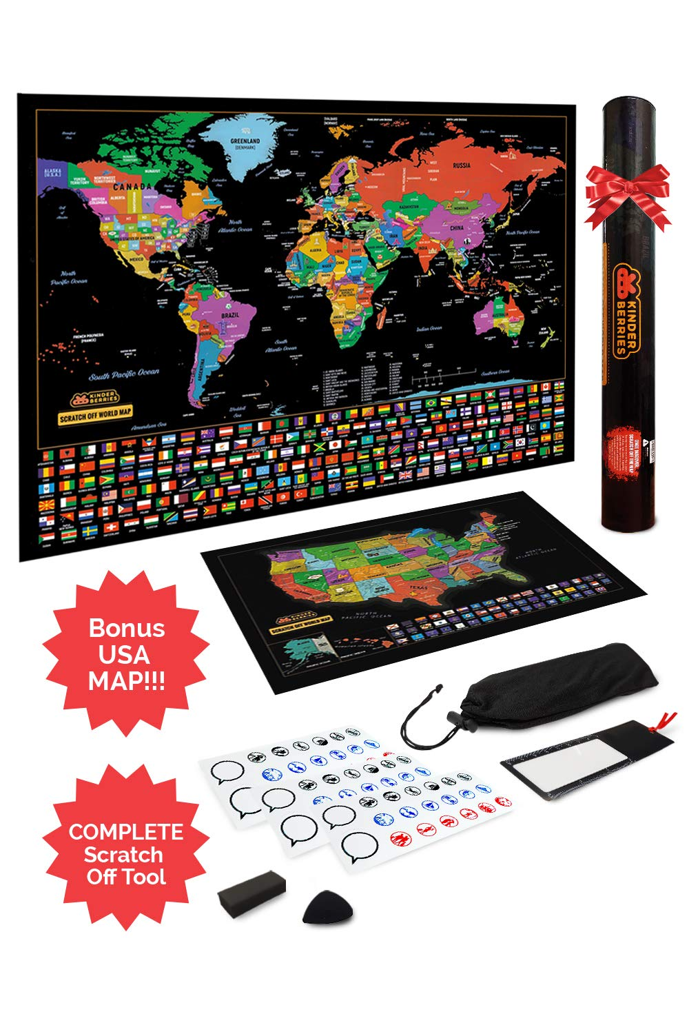 Scratch Off Map Of The World / United States USA , Scratchable ...
