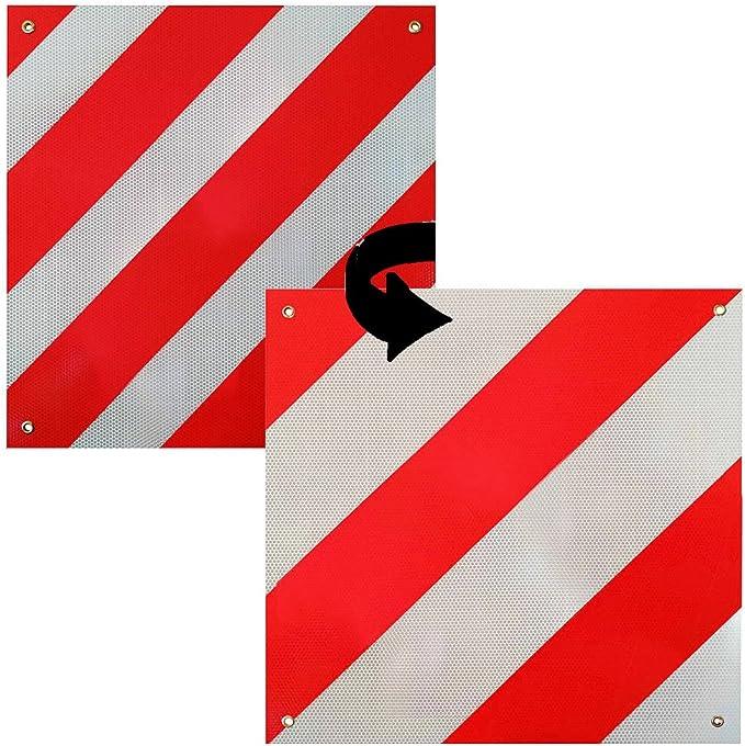 Melko Warntafel Spanien Italien Für Auto 2in1 Heckträger Wohnmobil Oder Wohnwagen Aus Aluminium 50 X50 Cm Rot Weiß Auto