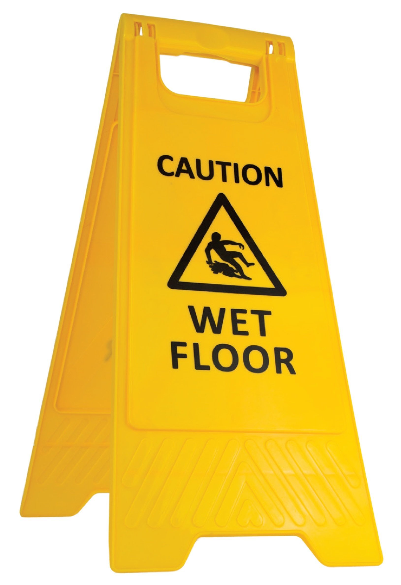 YEX 2-Sided Fold-Out Floor Safety Sign Caution Wet Floor Floor Warning Sign, Yellow