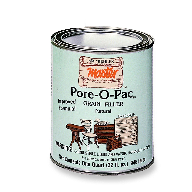 Pore-O-Pac Paste Wood Grain Filler, Natural, 1 Quart (4-Pack)