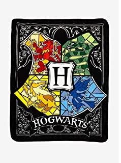 Harry Potter Stained Glass Fleece Blanket 50x60; 60x80 Made In US