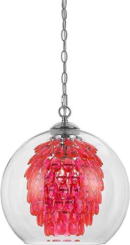 AF Lighting 9101-1H Glitzy Chandelier-Hot Pink, 1 Light