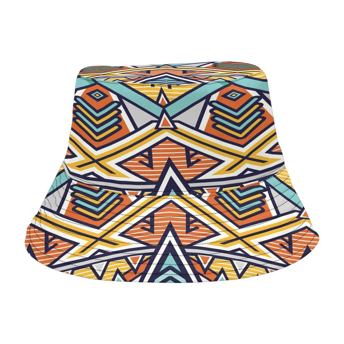538e76e37b8f1 INTERESTPRINT African Art Tribal Print Bucket Hats Outdoor Sun Hats at  Amazon Men s Clothing store