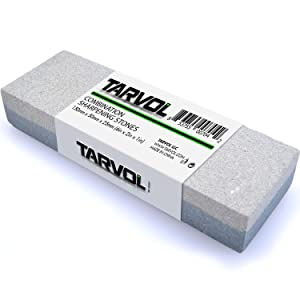 Combination Knife/Tool Sharpening Stone (2 SIDED - ULTRA FINE & MEDIUM GRIT) - Rectangle Sanding Stone Block - Perfect for Sharpening & Polishing Knives, Tools, Bits, & Chisels