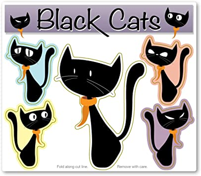 Black Cat Magnet