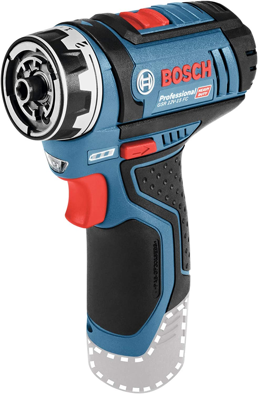 Bosch Professional 12V System Akku Bohrschrauber GSR 12V-15 FC mit Bohrfutteraufsatz GFA 12-B, ohne Akkus und Ladeger/ät, in L-BOXX