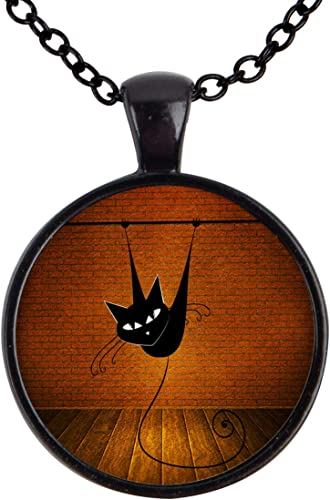 You are beautiful Black Glass Cabochon Necklace chain Pendant Wholesale