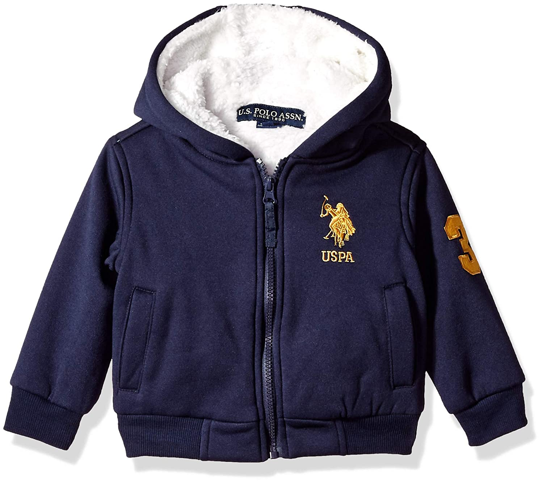 Polo Assn U.S Boys Fleece Hoodie Jacket