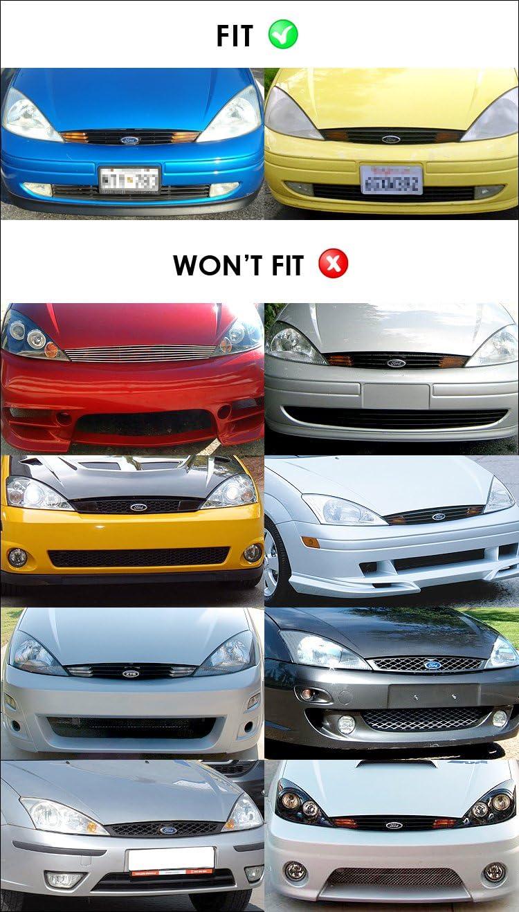 Fits 2001-2004 Ford Focus Billet Grille Combo