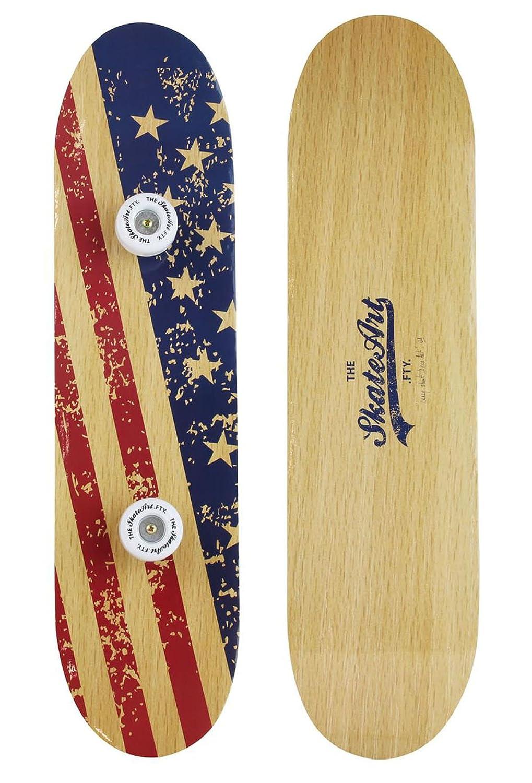 PEGANE Perchero de Madera Forma Skate US - Dim: L 60 x p 15 ...
