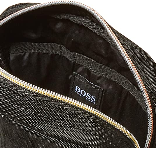 5.5x21x16 cm Schwarz Black BOSS Herren Pixel Tl/_ns Zip Schultertasche