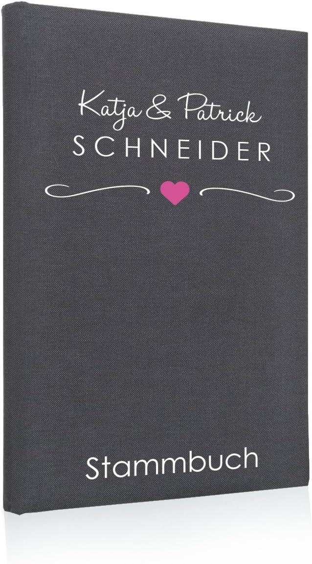 Hochzeitideal Stammbuch der Familie Familienstammbuch aus Buchbinderleinen Nr 135 inkl Personalisierung Blau