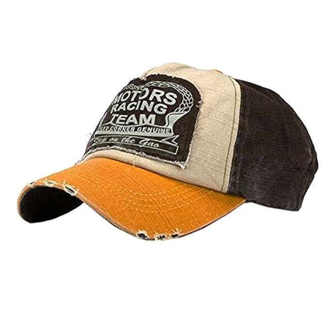 ba85bbbfa1001 Nueva unisex gorra de béisbol algodón mezclado motocicleta Gorra molienda  borde haga viejo Sombrero (A