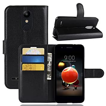 Funda® Capirotazo Billetera Funda para LG K8 2018 (Negro): Amazon ...
