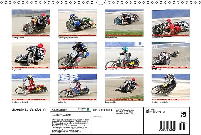 Speedway Sandbahn Wandkalender 2021 Din A3 Quer Landsherr Uli Bücher