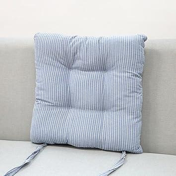LJu0026XJ Esszimmer Stühle Kissen,Baumwolle Kissen Weich Streifen Stuhlkissen  Mit Krawatten Sitzkissen Für Büro Erker