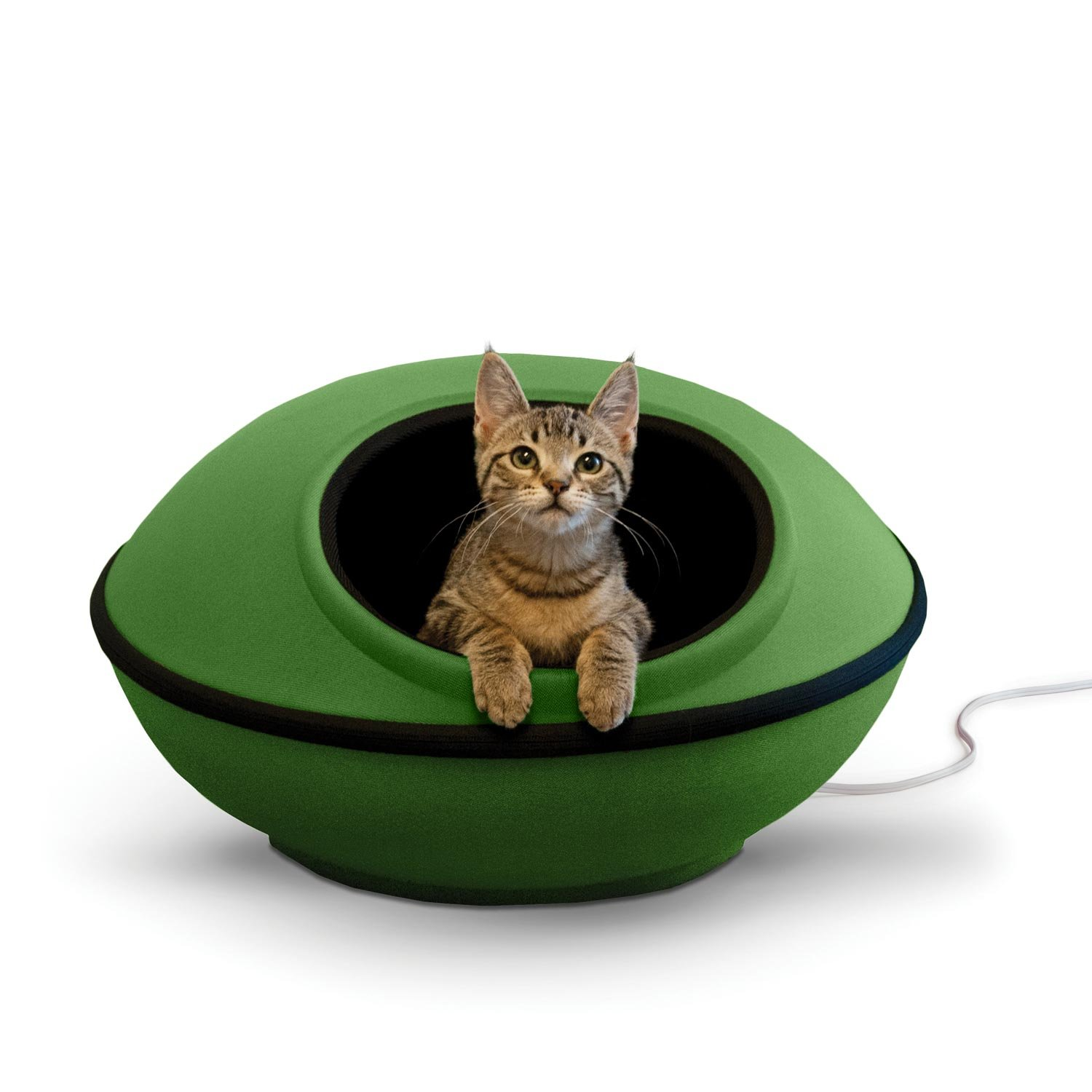 K&H Pet Products Thermo-Mod Dream Pod Heated Pet Bed Green/Black 22'' 4W