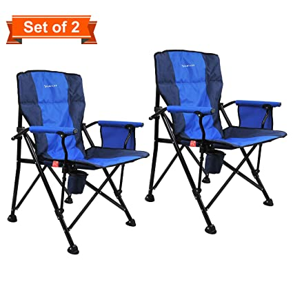 Awe Inspiring Amazon Com Kamileo Camping Chairs Set Of 2 Outdoor Pdpeps Interior Chair Design Pdpepsorg