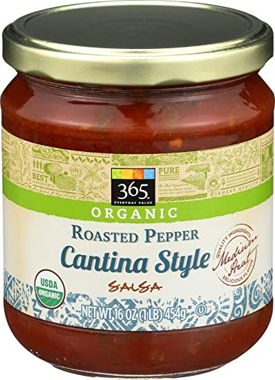 365 Everyday Value, Organic Roasted Pepper Cantina Style Salsa, 16 oz