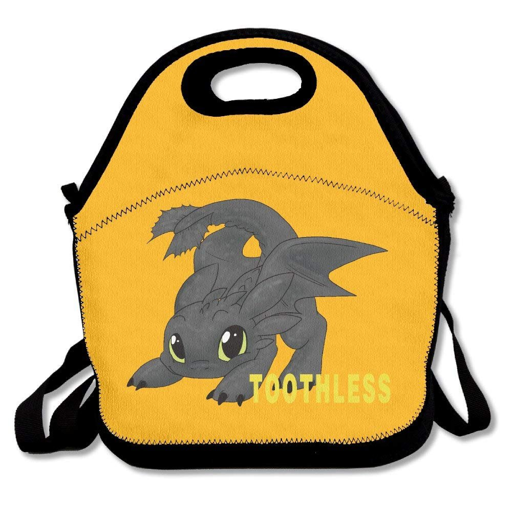 How To Train Your Dragon Toothless Lunch Box Bag For Kids And Adult,lunch Tote Lunch Holder With Adjustable Strap For Men Women Boys Girls,This Design For Portable, Oblique Cross,double Shoulder