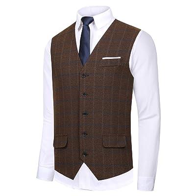 Hanayome Men's Gentleman Top Design Casual Waistcoat Business Suit Vest VS17 at Amazon Men's Clothing store
