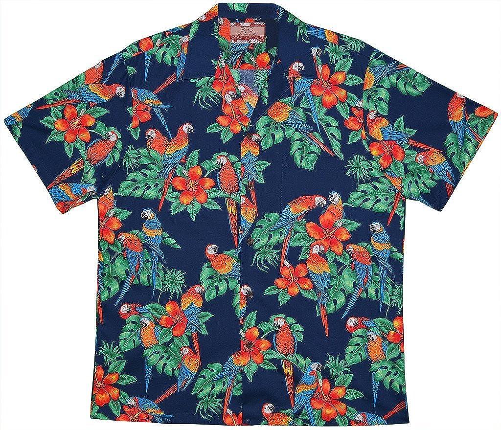RJC Mens Kauai Parrots Hawaiian Shirt