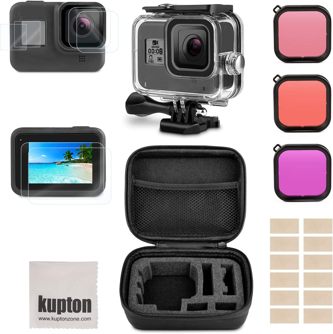 Kupton Accessories Kit Compatible with GoPro Hero 8 Black Bundle