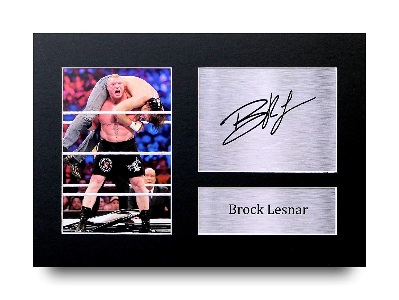 HWC Trading Brock Lesnar Geschenke Unterzeichneten A4 Gedrucktes Autogramm WWE WWF Ringen Druck-Foto-Bilderanzeige