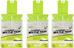 RESCUE! Japanese & Oriental Beetle Trap – One Season, Reusable - 3 Pack
