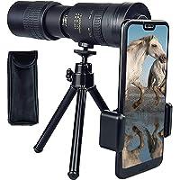 4K 10-300x40mm Super Telelen Zoom Monoculaire Telescoop, met Smartphone Houder & Tripod Night Vision Monocular met…