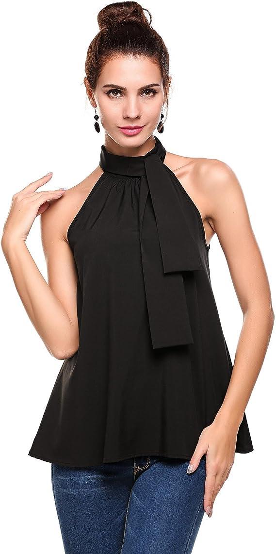 New Ladies Sleeveless Halter Neck Tops 8-14