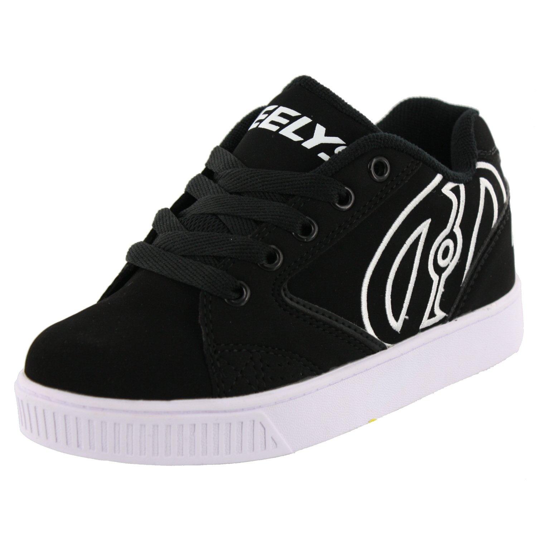 Heelys Propel Skate Shoe (Little Kid/Big Kid),Black/White,5 M US Big Kid