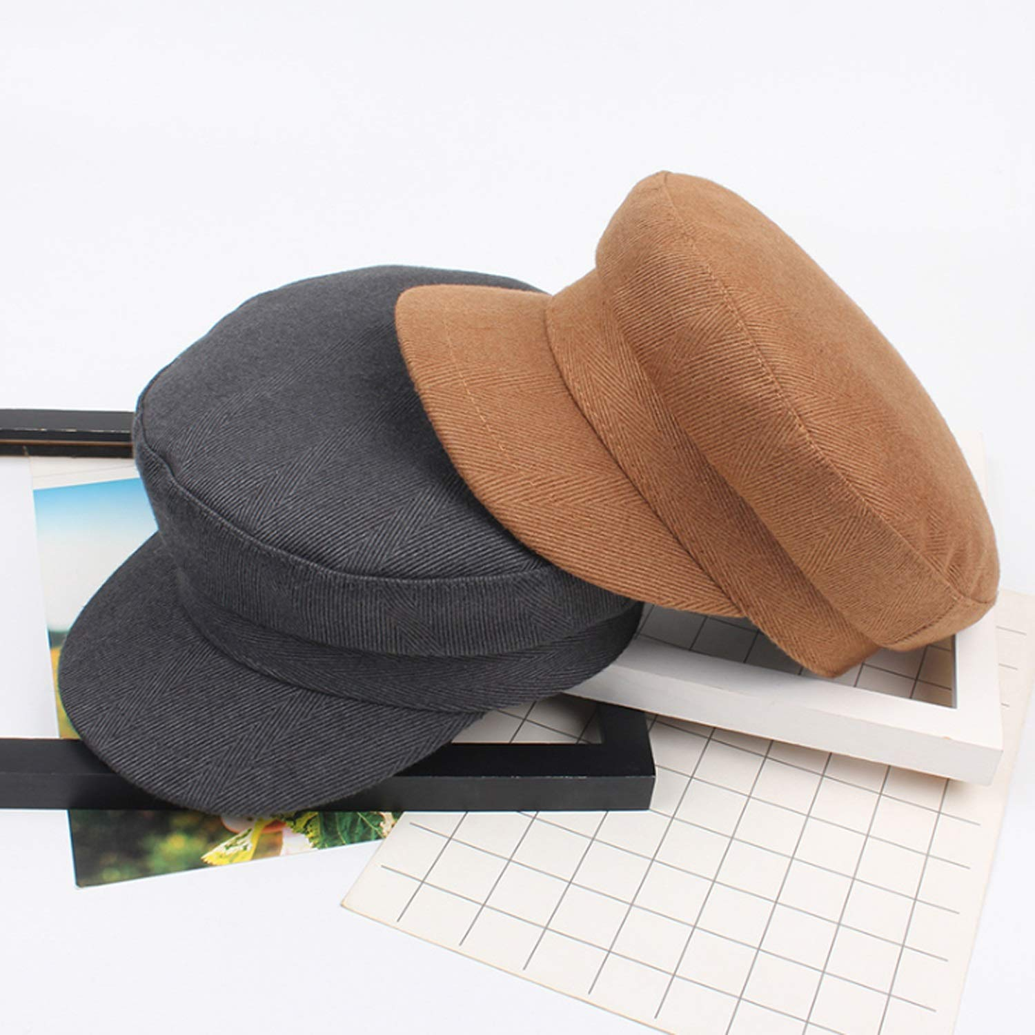 VAXT Direct Hat Literature Wild Hat Fall /& Winter Leisure Retro Bland Top Caps Unvarnished Beret