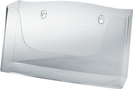 SIGEL LH115 Porta-depliant da parete 1 pz. con 1 tasca per A4 h in acrilico