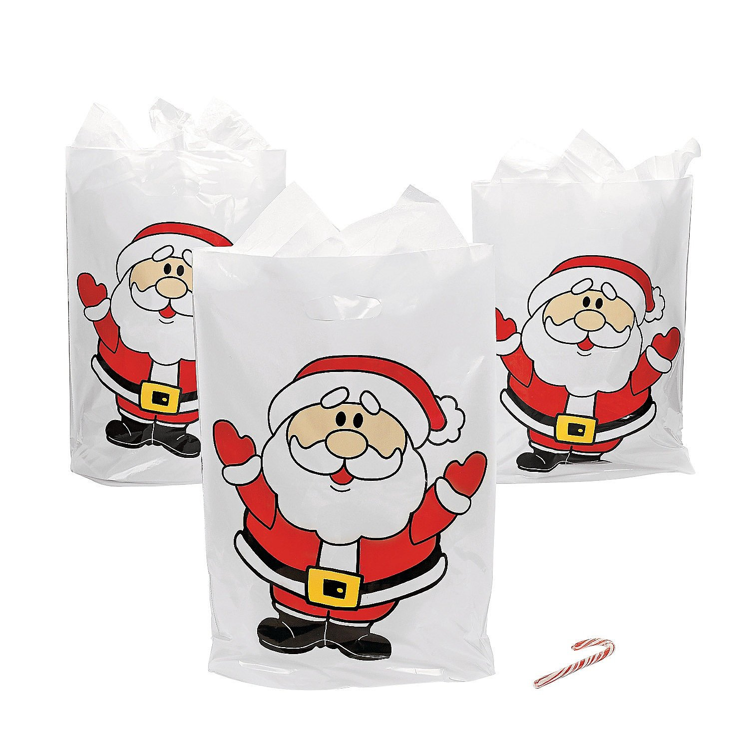 Christmas Party Supplies /& Decorations /& Party Supplies SG/_B07J5TW3XM/_US 100 Count Fun Express Santa Bags