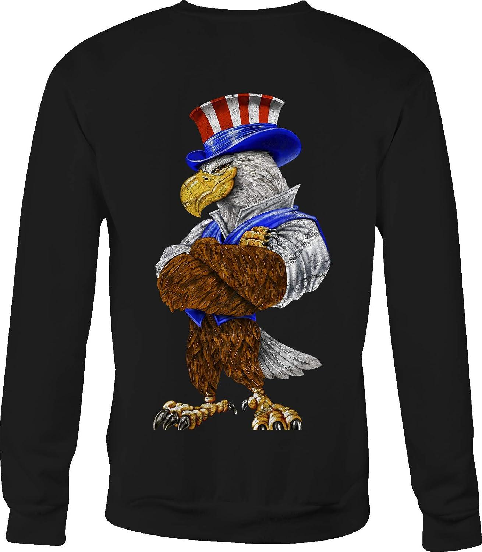 Crewneck Sweatshirt American Eagle Uncle Sam Patriotic Citizen