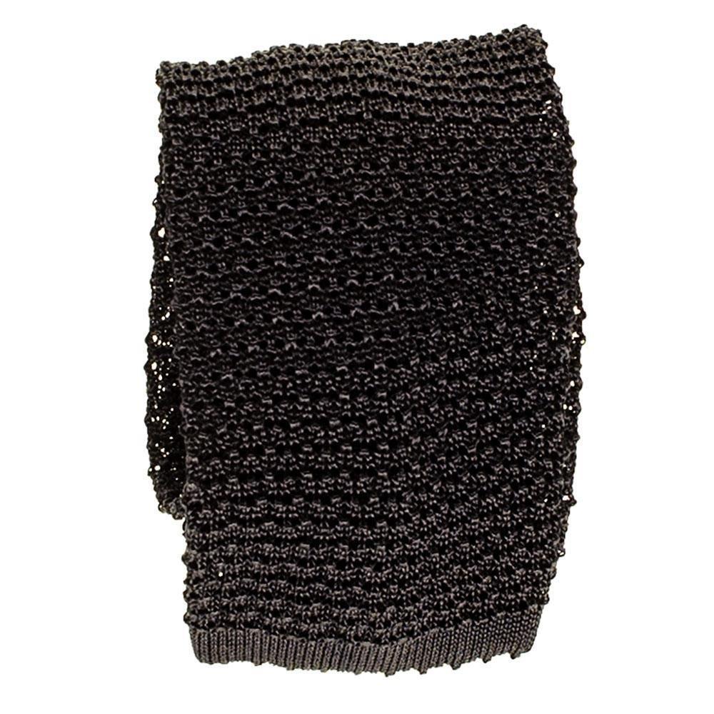 Black Corbata de seda de punto italiana negra: Amazon.es: Ropa y ...