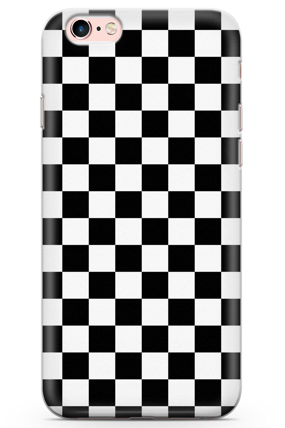 pretty nice 795cf 983dd iPhone 6 Case, iPhone 6s Black Checkered Phone Case by Casechimp® | Clear  Ultra Thin Lightweight Gel Silicon TPU Protective Cover | Checkerboard ...