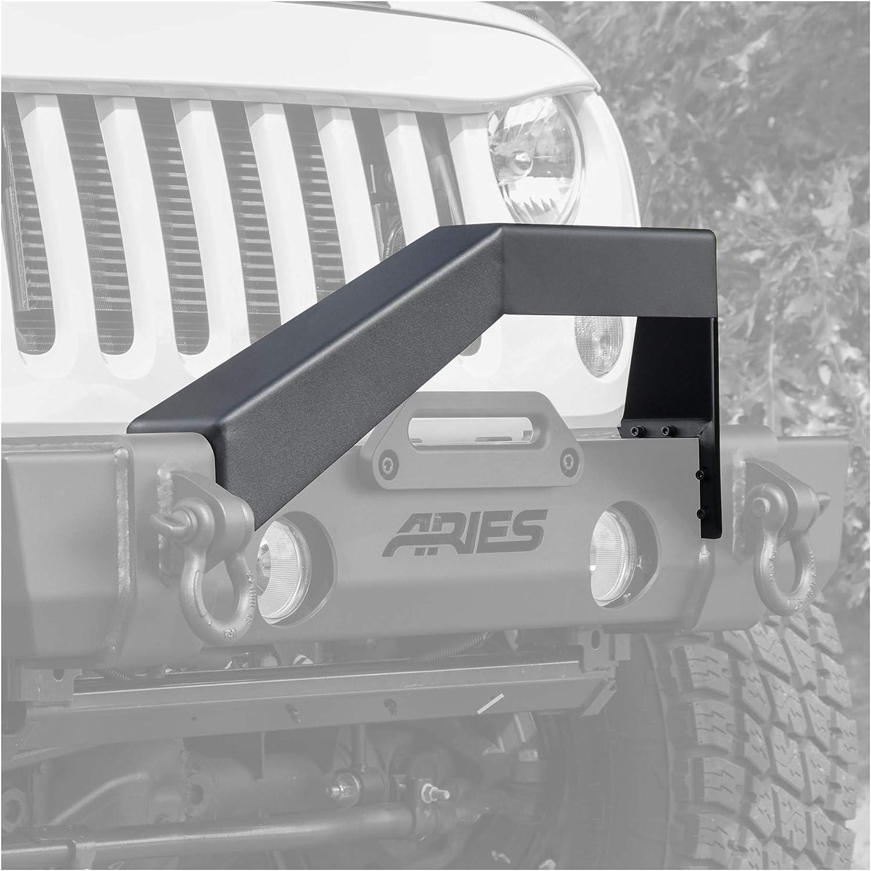 ARIES 2156050 TrailCrusher Black Steel Jeep Wrangler Bumper Brush Guard