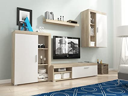 MEG Moderno Conjunto De Muebles De Salón-comedor, Mueble TV NUEVO ...