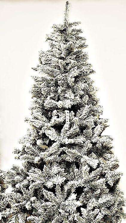 Albero Di Natale H 240.Albero Di Natale Montemarano Innevato Artificiale H 240 Cm Amazon