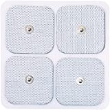 LotFancy 40PCS Snap Electrode Pads - Reusable Square TENS Unit Replacement Pads with Premium Adhesive Gel for EMS & Muscle Stimulators, Comfortable Soft Foam Backing (2 x 2 Inches)