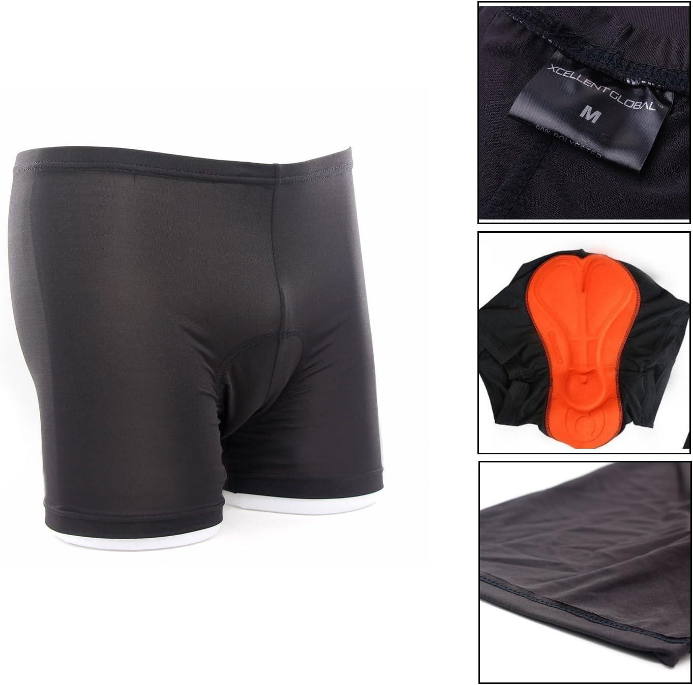 Xcellent Global Shorts Ropa Interior Almohadilla silic/ón Alta Permeabilidad Bicicleta//Ciclismo S//M//L//XL//XXL Size Available M-FS001