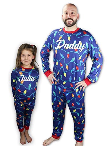 Amazon.com  Knitpopshop Personalized Matching Family Christmas Lights Pajama  Set 59f3c07ba